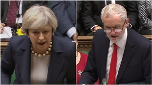 Jeremy Corbyn and Theresa May in fiery exchange over Trump travel ban