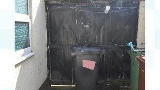 Gareth Dack's footprints were found on top of the bin in Mrs Bell's yard
