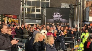 Fans applauded coffin of Graham Taylor