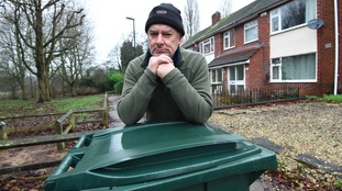 Terence Armour says refuse collectors stopped emptying the general waste bins from outside houses at the end of the street three years ago.