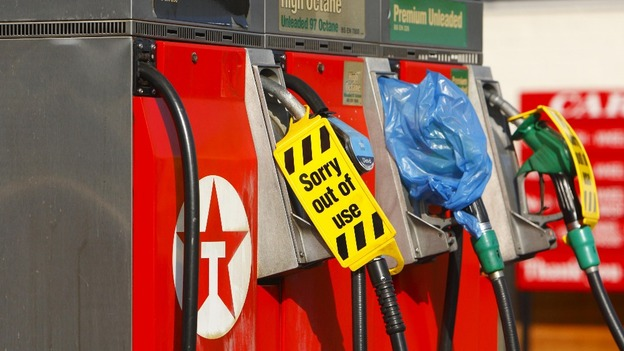 Petrol pumps have run dry across the UK as demand for fuel soared.