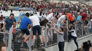 Clashes broke out between Russian and England fans during Euro 2016 in Marseilles.