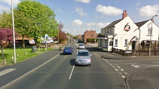 Google Street View showing the area around the Leopard Pub on Sedgly Road in Dudley