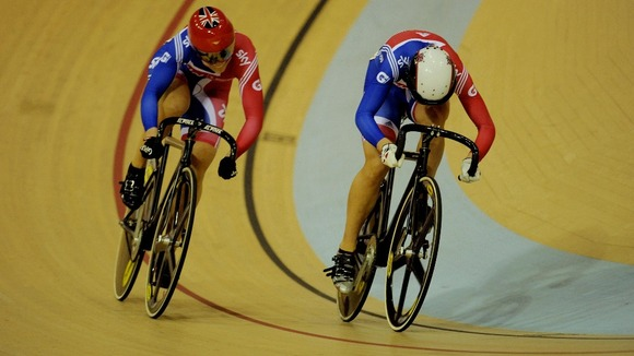 Becky James (r) and Jess Varnish