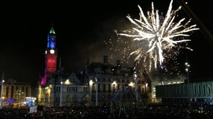 Fireworks wow the crowds in Bradford