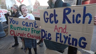 Protests continue to be held against the expansion of Heathrow Airport.