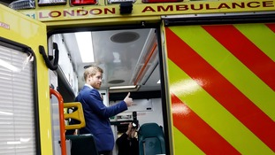 'We're all human, we're not machines', Prince Harry tells ambulance staff