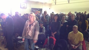 The congregation at the Trinity Life Church in Leicester