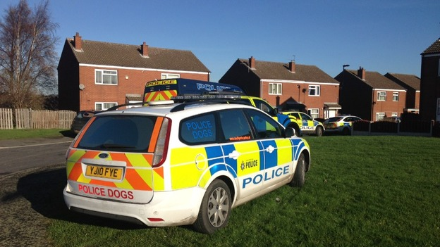 Police cars in Denaby