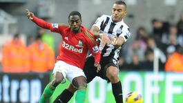 Newcastle&#x27;s Danny Simpson and Swansea&#x27;s Nathan Dyer
