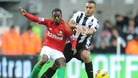Newcastle's Danny Simpson and Swansea's Nathan Dyer
