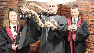 One teacher dressed up as Voldemort.