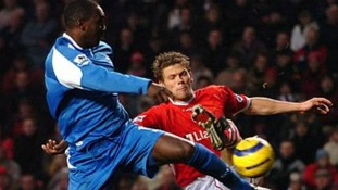 Emile Heskey battles for the ball while playing for Birmingham City