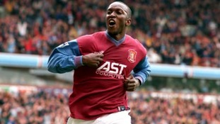Dwight Yorke scores for Aston Villa