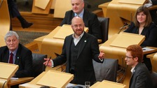 Patrick Harvie was at the centre of the heated exchanges.