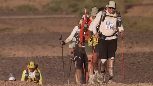 Duncan Slater will take on the Marathon des Sables for the second time this April Credit: ITV News