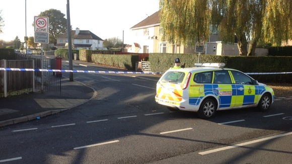 Fairnley Close in Bilborough where a man was found with gunshot wounds yesterday
