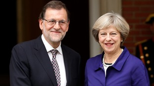 Mrs May and Spain's Mariano Rajoy, pictured together last year.