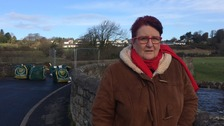 Cllr Nicky Cockburn at the bridge.