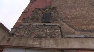 This chimney breast is a reminder of the theatre's secretive past.