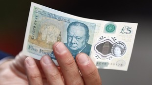 Tallow is used in the £5 notes.