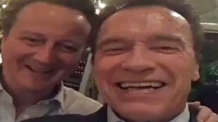'I'll be back' David Cameron vows in Snapchat video with 'great friend' Arnold Schwarzenegger