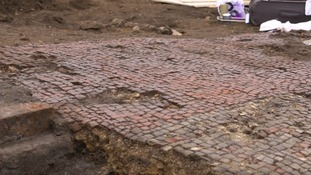 Roman mosaic pavement unearthed in Leicester