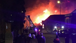 The fire is thought to be at the old bingo hall on Southwick Green
