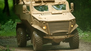 Daniel Craig travelled in a Foxhound vehicle similar to this one