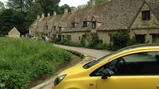 Notorious yellow car vandalised in picturesque village