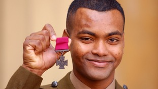 Johnson Beharry pictured after receiving the Victoria Cross.
