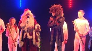 Santa on stage