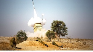 Close up on Israel's Iron Dome air defence system