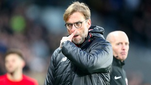 Liverpool manager Jurgen Klopp reacts after the final whistle during the Premier League match at the KCOM Stadium, Hull.