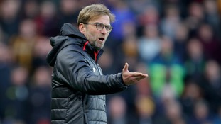 Jurgen Klopp gestures from the touchline during yesterday's game