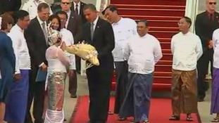 Barack Obama and Hillary Clinton Burma
