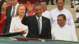 Barack Obama and Hillary Clinton Burma