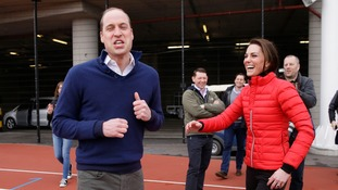 William and Kate at the finish line