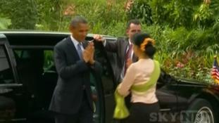 Aung San Suu Kyi Obama