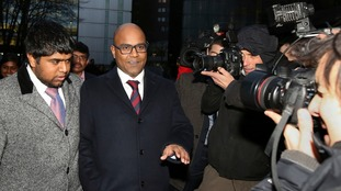 Dr Dhanuson Dharmasena (second left) was found not guilty of carrying out FGM