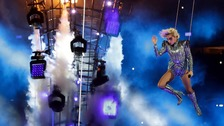 Lady Gaga during the half time show