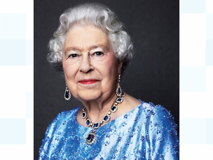 A portrait of Queen Elizabeth by David Bailey
