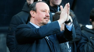 Rafa Benitez was pleased with the 'communication' between Newcastle United's fans and players after their 1-0 win against Derby County