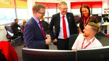 Cllr Nick Forbes at Newcastle Contact Centre