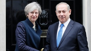 PM holds talks with Benjamin Netanyahu at Number 10