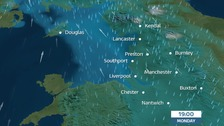 Winds, rain and wintry showers over hills for Monday evening rush hour