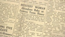 Newspaper cutting from the North London Press, April 1945.