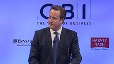 David Cameron addressing the CBI conference in 2011