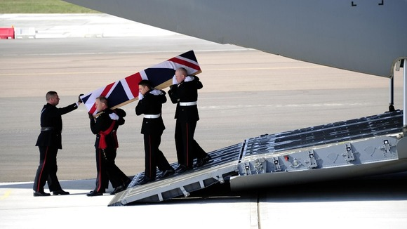 The Repatriation of Royal Marine Sergeant Luke Taylor at RAF Brize Norton