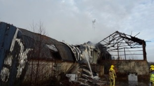 Recycling centre destroyed by fire 'operating illegally'